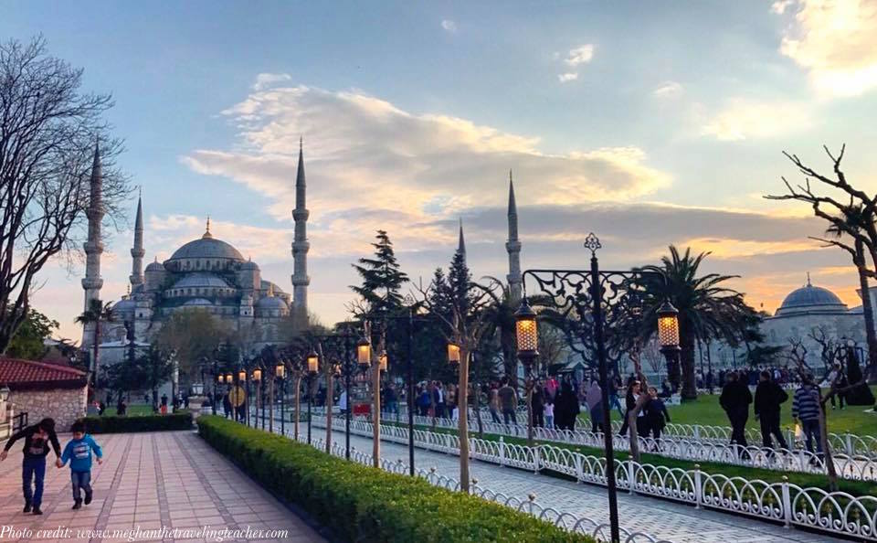 Blue Mosque from the outside, in Istanbul