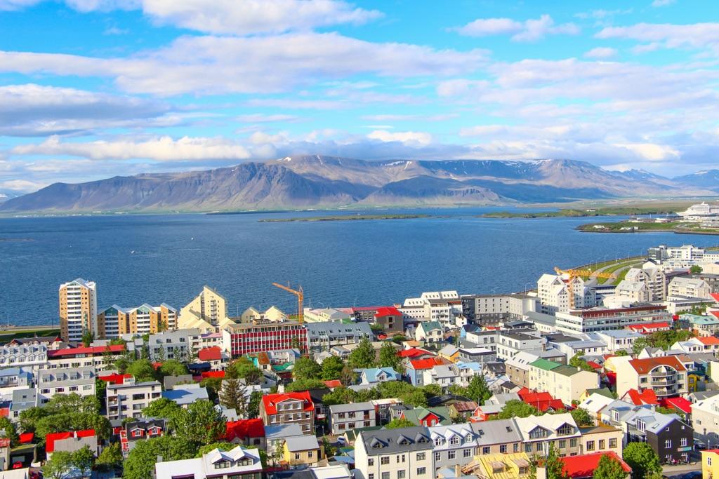 Reykjavik panoramic view