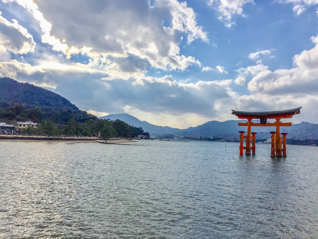 Floating Torii in Japan