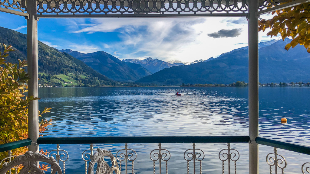 Views of Lake Zell against the Austrian Alps